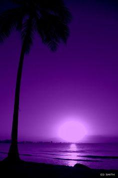 Purple Aesthetic Discover Pupura Puerto Rico by Edward Smith Purple Stuff, Purple Love, All Things Purple, Shades Of Purple, Deep Purple, Purple And Black, Purple Sunset, Purple Beach, Pink