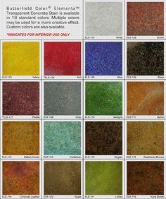 Uni Mix Integral Concrete Colorant Color Chart A Small