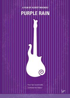 Purple Poster featuring the digital art No124 My Purple Rain Minimal Movie Poster by Chungkong Art