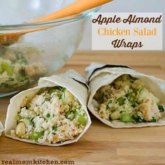 Apple Almond Chicken Salad Wrap | realmomkitchen.com #ad #WrapUpSummerGoodness
