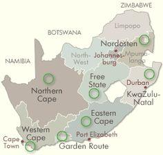 Südafrika Reiseführer - Reiseziele im Überblick
