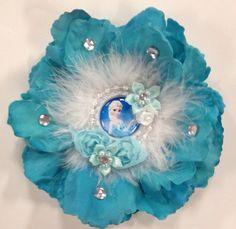 Frozen Princess Queen Elsa Flower Hair Bow on Etsy, $8.00