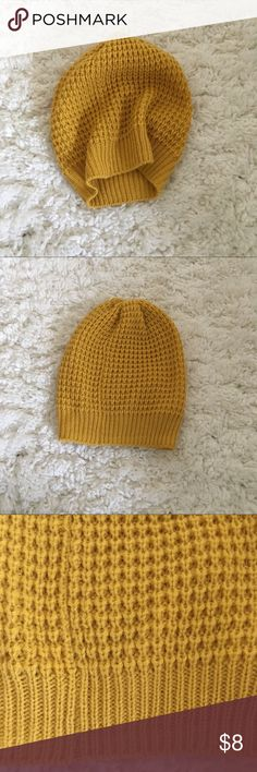 Knit Beanie Soft knit beanie in mustard yellow. Barely worn. Mossimo Supply Co Accessories Hats