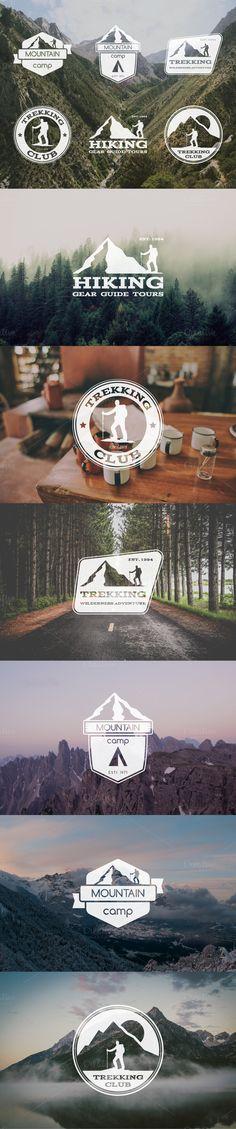 6 Trekking Badges & Logo by Jekson Graphics on Creative Market