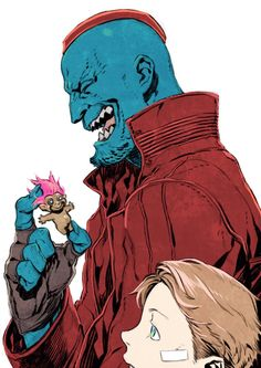 Yondu Udonta & Star Lord (Peter Quill)    Guardians of the Galaxy Vol.2