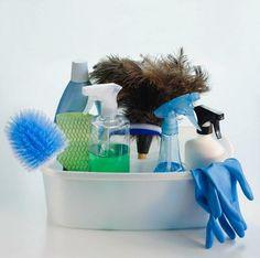 Recipiente para productos de limpieza