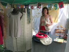 craft fair booth with a dressing room   #craft show #craft fair #booth display ideas
