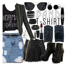 """""""Rock'n'roll"""" by danchaa ❤ liked on Polyvore featuring Zanellato, Balmain, Bling Jewelry, Alexis Bittar, Whistles, Valentino, Quay, MAC Cosmetics, Gucci and Topshop"""