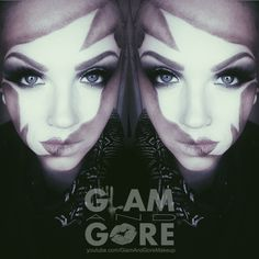 Makeup mask face paint.  For more makeup looks and tutorials: www.instagram.com/Mykie_      www.youtube.com/GlamAndGoreMakeup