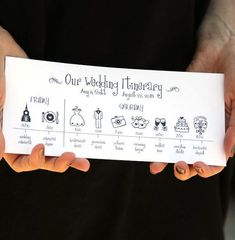 Wedding Timeline Printable Digital File Schedule by pompcreative #weddinginvitation