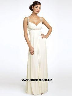 Empire Abendkleid in Weiss Bodenlang von www.online-mode.biz
