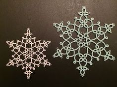 A new snowflake (but please, no more snow!)   Tatting by the Bay   Bloglovin'