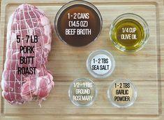 Boston Pork Butt: World's Best Pork Roast Recipe - Delishably - Food and Drink Boston Pork Roast Recipe, Pork Roast Recipes, Grilling Recipes, Crockpot Recipes, Pork Ham, Pork Loin, Pork Tenderloins, Beef Tenderloin, Rolled Pork Roast