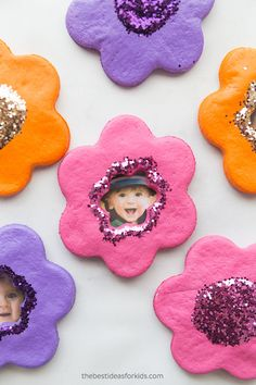 Salt Dough Flower Magnets - Salt Dough Ornaments