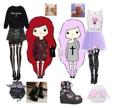 """Goth/pastel goth"" by lilangelrere ❤ liked on Polyvore featuring Casetify, Anran, women's clothing, women's fashion, women, female, woman, misses and juniors"