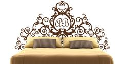 I want this for my room super bad! Headboard wall decal.