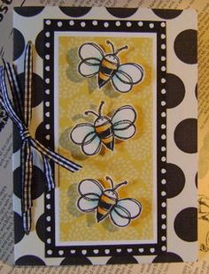 bumble bee card by Megan K. Suarez, via Flickr