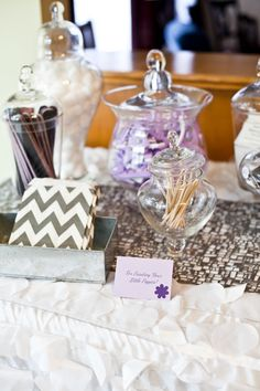 Apothecary jars are a great way to store spa supplies, small merchandise and create filler for interesting displays Manicure Station, Nail Station, Manicure Set, Jamberry Party, Jamberry Nail Wraps, Jamberry Hostess, Jamberry Business, Nail Room, Bridal Shower