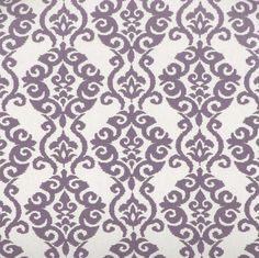 We love the floral damask pattern on our upholstered Grace headboard.