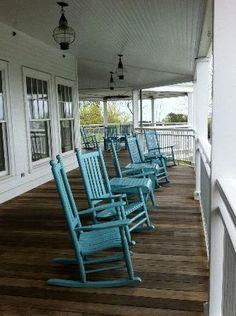 Rocking on a porch....Martha's Vineyard  Harbor View Hotel & Resort