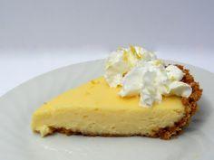 Creamy Lemon Pie -- easy Ingredients needed: 8 whole graham crackers, 3 Tbsp. butter, 1 (14 oz.) can sweetened condensed milk, 2 large eggs, 1/2 cup fresh lemon juice, 1 Tbsp. lemon zest, Whipped cream