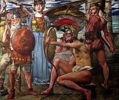 Lovis Corinth; Odysseus and the suitors; 1913
