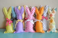 the little fabric blog - easter - fabric bunnies (tutorial)