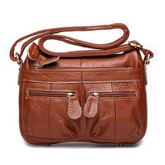 Hot-sale designer Woman Genuine Leather Classic Crossbody Bag High-End Messenger Bag Shoulder Bag Online - NewChic Mobile Source by jimandterrylain bags classic Handbags Online, Online Bags, Sierra Leone, Uganda, Vintage Messenger Bag, Messenger Bags, Canvas Crossbody Bag, Nepal, Popular Bags