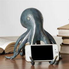SPI Home Octopus Cellphone Holder with Bluetooth Speaker