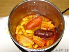 Como hacer fabada asturiana con Thermomix Cooking Ribeye Steak, Cooking A Roast, Cooking Bread, Cooking Ham, Cooking Turkey, How To Cook Brisket, How To Cook Ham, Meat Cooking Times, Cooking Wild Rice