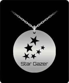 Stargazing, Laser Engraving, Stainless Steel, Necklaces, Stars, Pendant, Design, Hang Tags, Sterne