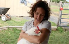 Ophelia would have been just one of 9 billion chickens killed annually for America's appetite and nothing more. At Woodstock Farm Animal Sanctuary she is a beloved friend and very close to our Co-Founder Jenny Brown.