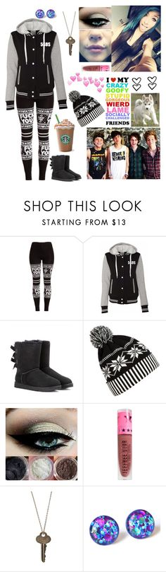 """Christmas with the boys❤"" by emmcg915 ❤ liked on Polyvore featuring UGG Australia, Nuevo, Vision, WithChic, Jeffree Star and The Giving Keys"