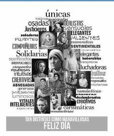 """@Grafocafe: Distintas y maravillosas #InternationalWomensDay Spanish Classroom, Teaching Spanish, Happy Woman Day, Happy Women, Woman Quotes, Life Quotes, Online Photo Editing, Ap Spanish, Happy Everything"
