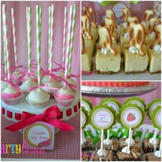 Watermelon Berry Birthday party desserts by Partylicious