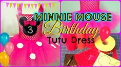 How to make a Minnie Mouse Birthday Party Tutu Dress - DIY Tutu Tutorial