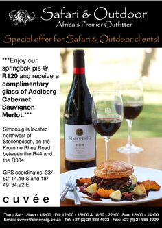 Mission: Communicate a discount voucher for every client that purchases from Safari & Outdoor, a partner of Cuvée Restaurant (receive extra marketing support via their database)