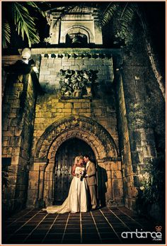 Wedding Portraits Bride And Groom Ancient Spanish Monastery