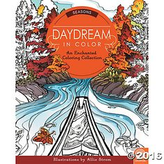 Daydream in Color: Seasons features a natural balance of stunning spring, summer, fall and winter scenes. Each design captures magical details that color then brings to life. Delight in an adorable snail camouflaged amongst fiddlehead ferns, a field of sunflowers, mittens and snowflakes flitting through the air and more! #AdultColoring #MindWareToys #FreePrintable