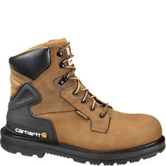 Find Carhartt Men's 6 in. Steel Toe Waterproof Work Boot in the All Men's Work Boots & Shoes category at Tractor Supply Co.Carhartt developed Co Carhartt Boots, Steel Toe Work Boots, Brown Boots, Tan Leather, Leather Boots, Hiking Boots, Combat Boots, Men Boots, Lace Up