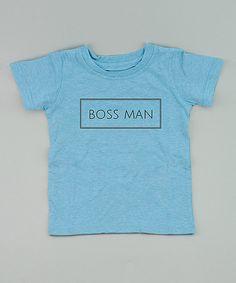 Love this Aqua 'Boss Man' Tee - Infant, Toddler & Kids on #zulily! #zulilyfinds
