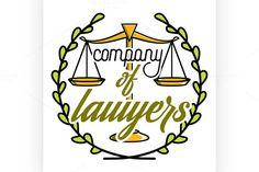 Color vintage lawyer emblem @creativework247