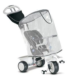 Keep your little wet weather adventurer dry on their Smart Trike with this Smart Trike raincover.