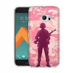 HTC 10 Pink Camouflage Soldier Slim Case