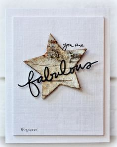 love the birch bark star!
