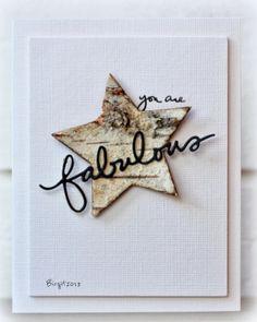 love the birch bark star!