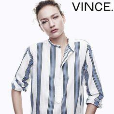 """Vince ブラウス・シャツ VIPセール☆Vince・2016SS最新""""Henley""""ストライプシャツ"""
