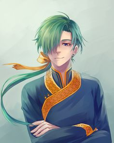 Akatsuki no Yona / Yona of the dawn anime and manga Yona Akatsuki No Yona, Anime Akatsuki, Dragon Vert, Green Dragon, Manga Anime, Anime Art, Arte Sailor Moon, Animes On, Book People