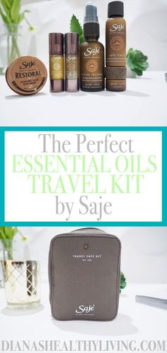 Keep up your healthy habits on the road and feel amazing with these Saje essentials oils that are made to go in the perfect travel kit! ***** Travel tips and tricks