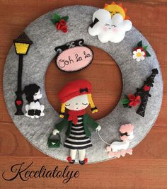#wreath #fabric-doll